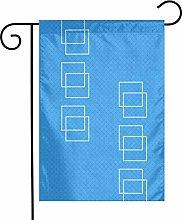 Blue Squares - Bandiere da giardino per interni ed