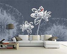 BLZQA Murali Sticker da muro fiore bianco Murali