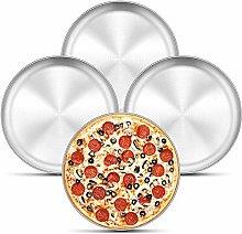 bobotron Set di 4 vassoi per pizza da 12 pollici,