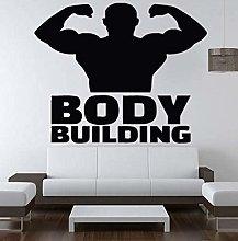 Bodybuilding Adesivo Da Parete Soggiorno Camera Da