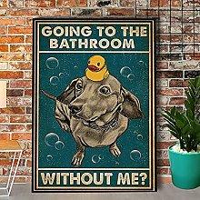 Bokueay Vintage Sign Bassotto bagno bagno bagno