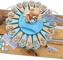 Bomboniere Battesimo con Confetti Torta Orsetto