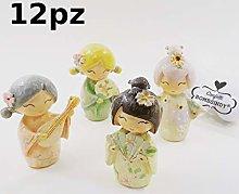 BOMBSINDY 12 Bamboline Geisha Giapponesi Pose
