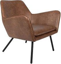 Bon Poltrona lounge colore marrone