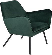 Bon Poltrona lounge in velluto verde