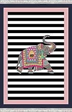 Bonamaison Tappeto con Stampa Digitale,
