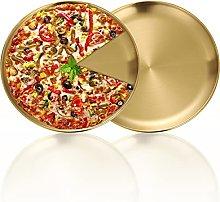 BOTOWI Teglia per pizza rotonda, set da 2 pezzi,