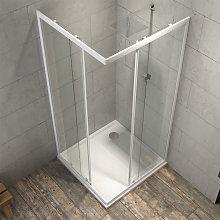 box cabina doccia angolare corner due ante