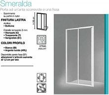 Box Doccia 1 Anta Scorrevole/1 Anta Fissa 112/117