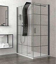 Box doccia 100x80 colore nero. porta da 80cm