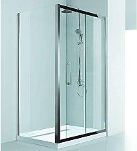 Box doccia 100x80 guide in acciaio vetro spessore