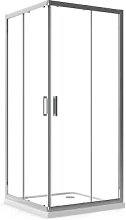 Box Doccia 120x120 cm Angolare Apertura Scorrevole