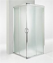 Box doccia 3 lati porta scorrevole 100x100x100 cm