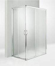 Box doccia 3 lati porta scorrevole 60x115x60 cm