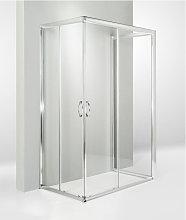 Box doccia 3 lati porta scorrevole 75x120x75 cm