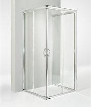 Box doccia 3 lati porta scorrevole 80x80x80 cm