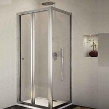 Box doccia 70 x 70 cm angolo porta pieghevole e