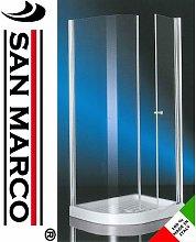 Box doccia 70x90 semicircolare con anta fissa e