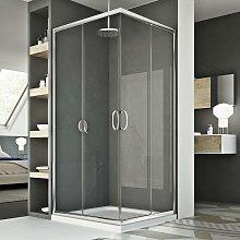 Box doccia 75x90CM H185 trasparente mod. Junior