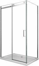 Box doccia 8 MM a 2 lati parete fissa laterale +