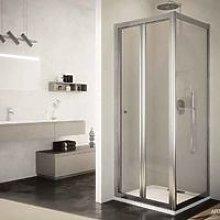 Box doccia 80 x 80 cm angolo porta pieghevole e