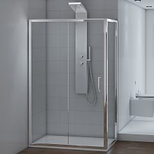 Box doccia 80x100 cm Angolare Cristallo
