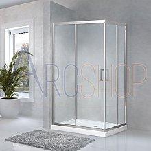 Box doccia 80X100 regolabile lastra cristallo 6 mm