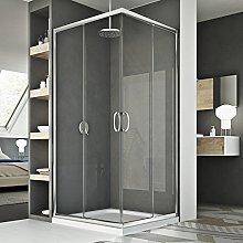 Box doccia 80x100CM H185 trasparente mod. Junior