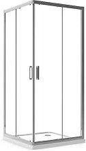 Box Doccia 80x120 cm Angolare Apertura Scorrevole