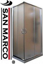 Box doccia 80x80 cm profilo cromato vetri da 5 mm