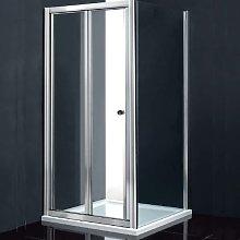 Box doccia 90 x 90 cm angolo porta pieghevole e