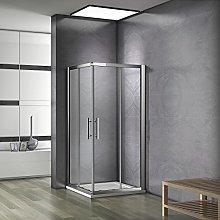 Box Doccia 90x100x185cm Cabina bagno Scorrevole
