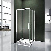 Box doccia 90x76x185cm Scorrevole Angolare
