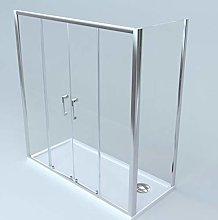 Box doccia a 2 lati porta scorrevole apertura