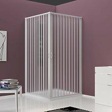 Box doccia a due lati in pvc h185 bianco,