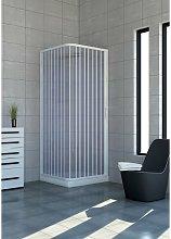 Box doccia Acquario 100x100 cm in PVC con apertura