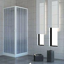Box doccia Acquario 80x120 cm in PVC con apertura