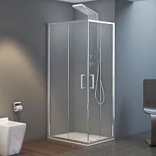 Box doccia ad Angolo 80x120 cm Doppio Scorrevole