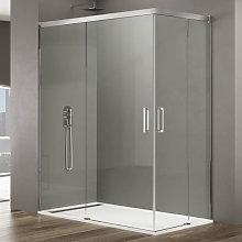 Box doccia angolare 100x75 in cristallo temperato