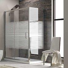 Box doccia angolare 100x80 altezza 180 vetro