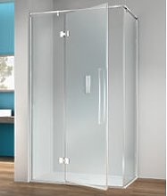 Box doccia angolare 100x80 cm anta fissa porta