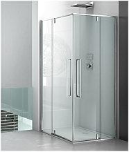 Box doccia angolare 100x80 cm apertura battente
