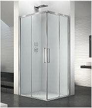 Box doccia angolare 100x80 cm apertura porta
