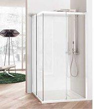 Box doccia angolare 100x80 cm con angolo battente