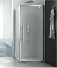 Box doccia angolare 100x80 cm con anta fissa