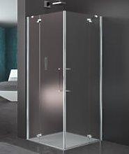 Box doccia angolare 100x80 cm porta battente