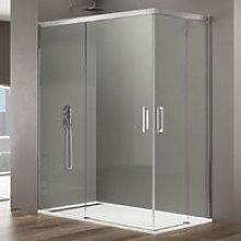 Box doccia angolare 100x80 in cristallo temperato