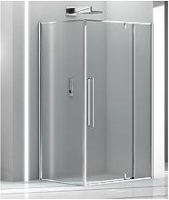 Box doccia angolare 110x160 cm anta fissa porta