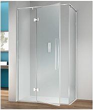 Box doccia angolare 110x70 cm anta fissa porta