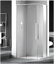 Box doccia angolare 110x80 cm apertura scorrevole